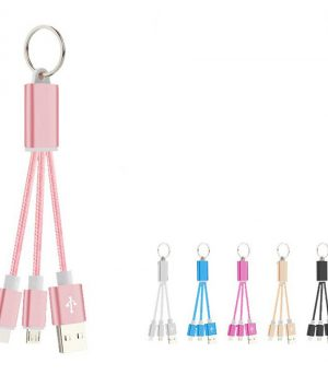 2 in 1 Keychain bulk usb cable