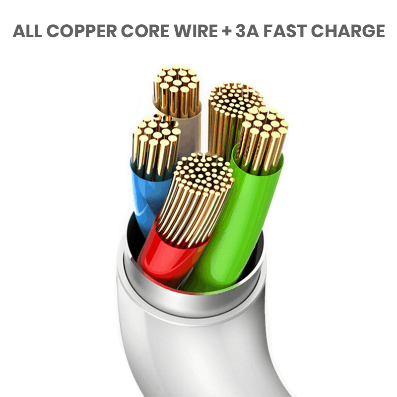 3A wholesale cables for iPhone with copper core