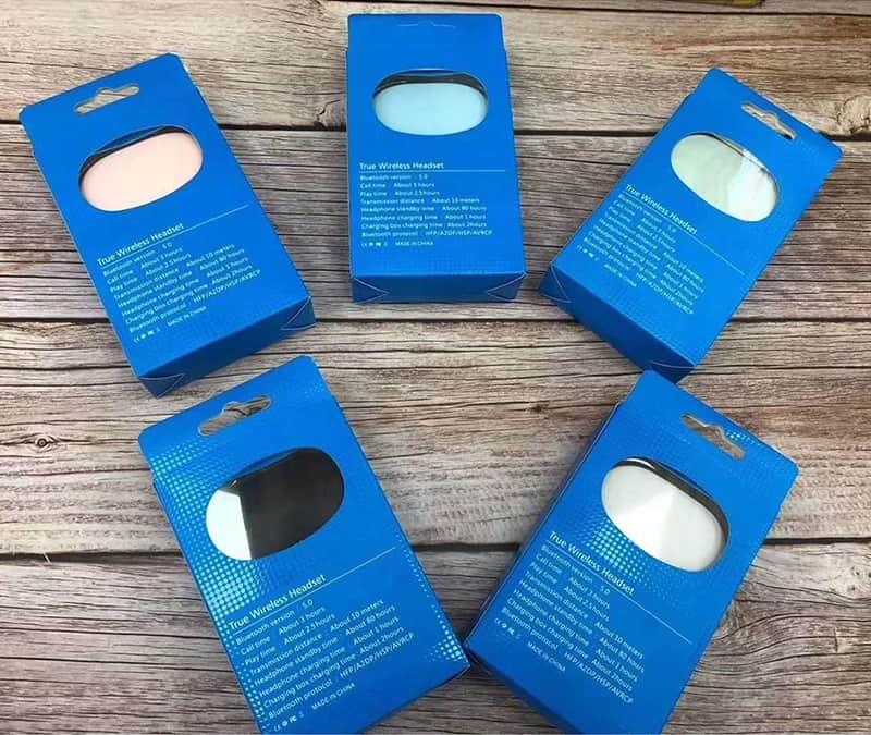 E6S retail box packaging Wireless Earbuds in bulk