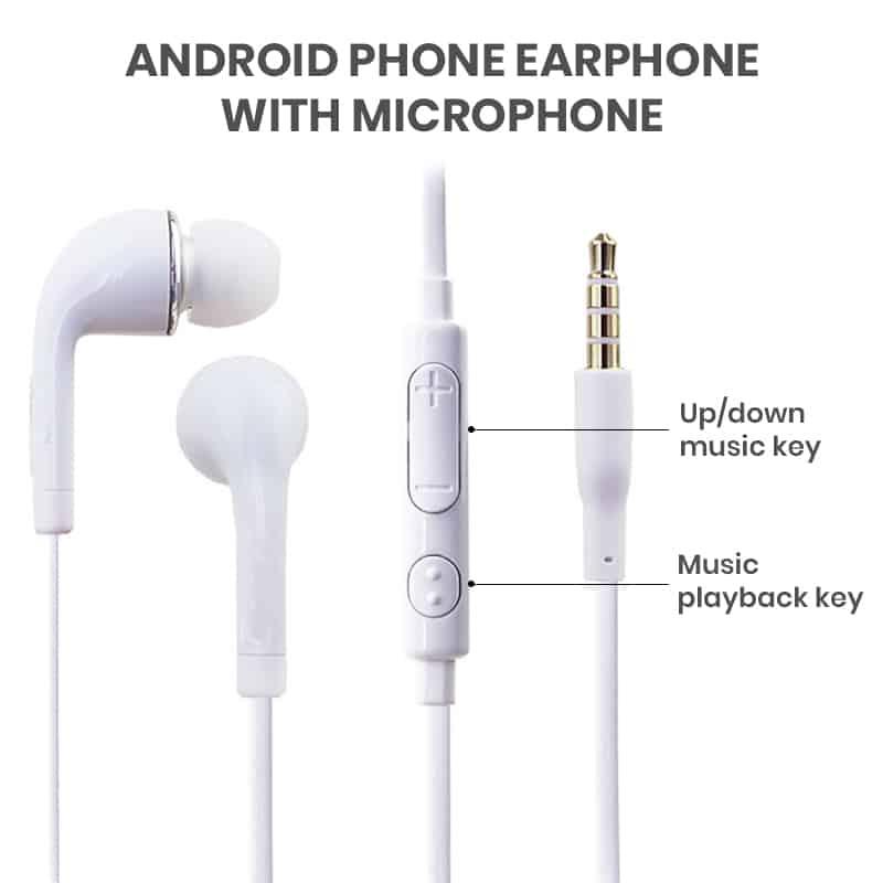 Galaxy J5 earbuds in bulk
