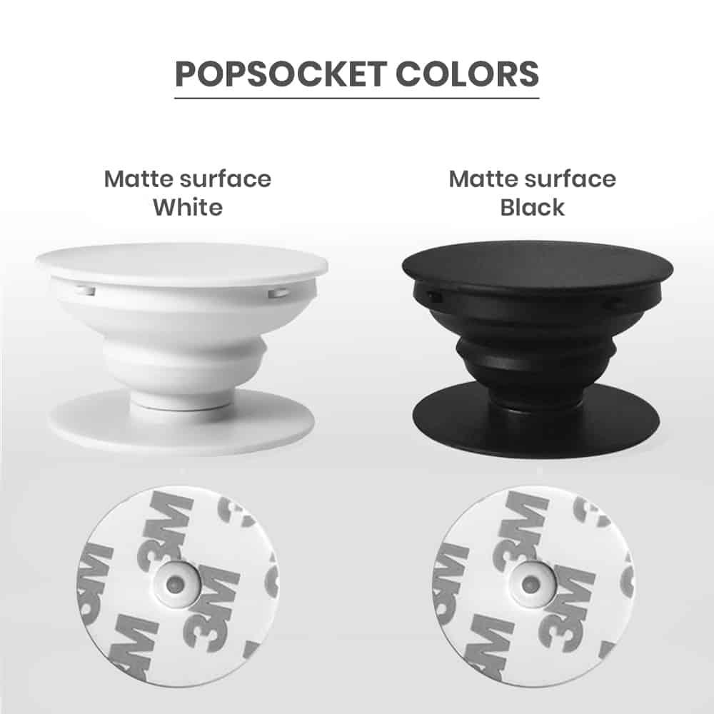 Matte popsocket phone grip