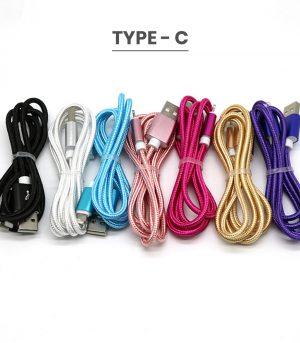 Multi color Bulk type C usb cables wholesale