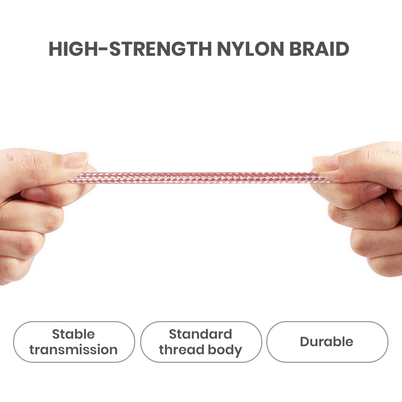 Strong Nylon Braided Cable in Bulk