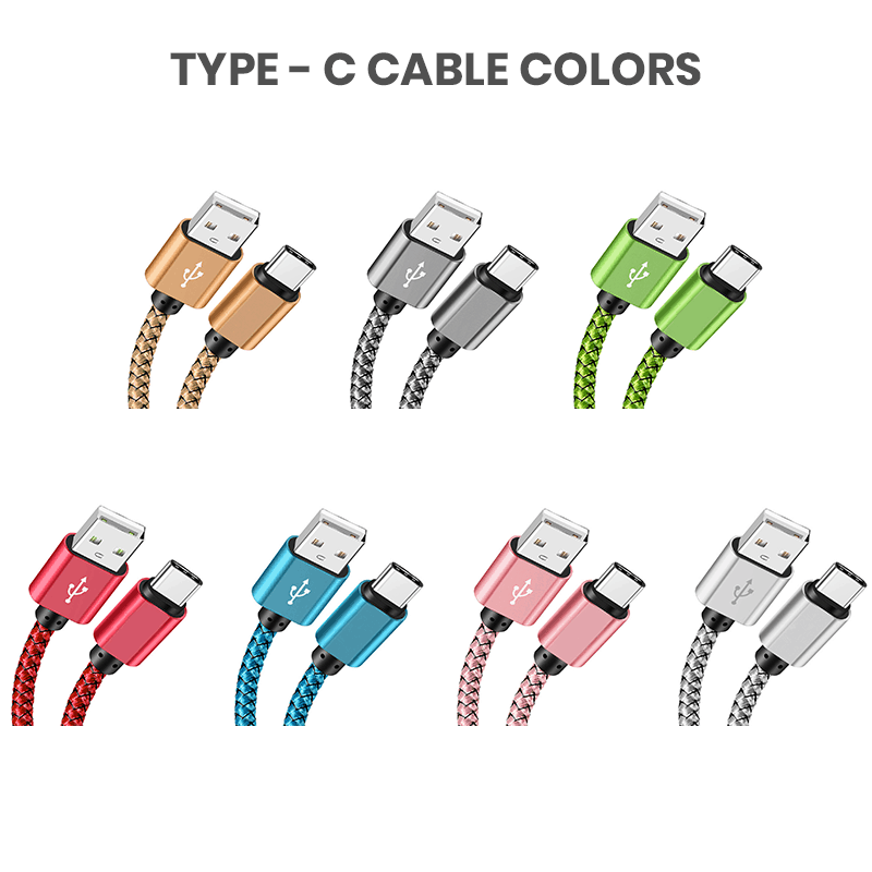 Type-c bulk usb cables colors