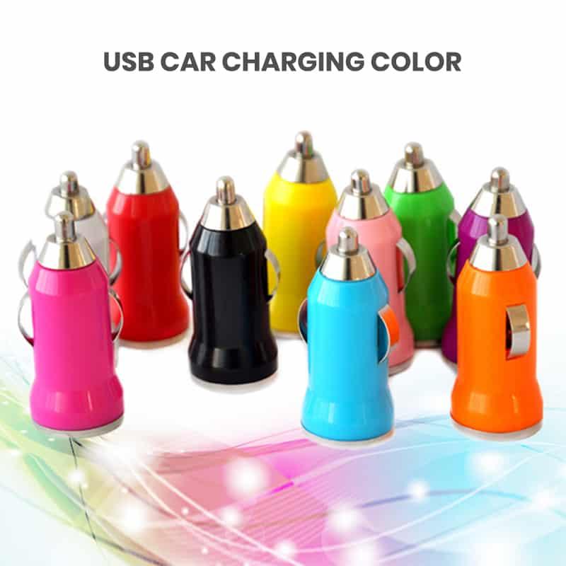 USB Car charger blocks colors