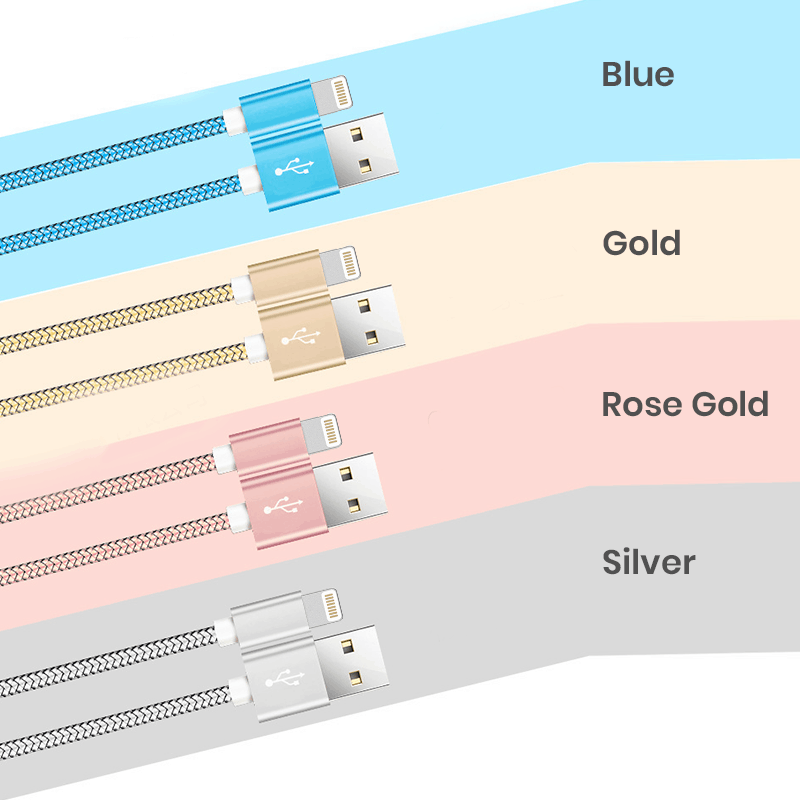 Various color option for bulk lightning cable