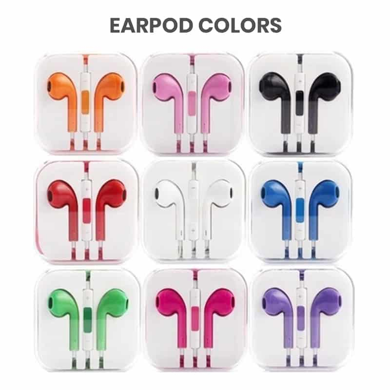 multi colored wholesale earpods